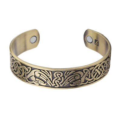 Ancient Norse Viking Celtic Cross Knot Healthcare Magnetic Cuff Bracelet