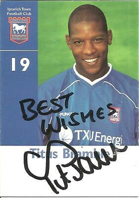 Football Autograph Titus Bramble Newcastle United Signed Player Photo Card F1139