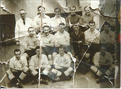 Football Autograph Reg Harrison Derby County 1946 Photograph Reproduction F1152