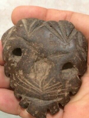 Pre-columbian Mayan Taino Figural Animal/Mask Artifact Carved Stone