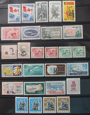 Canada 1967 & 1968 Complete Year Sets, MNH OG, 27 Issues Including All Tags