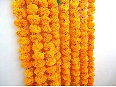 Artificial Marigold Garland light orange  Home Wedding Decoration Pack Of 5