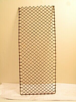 Vintage Antique Wire Mesh Window Grate Guard Door Mat Scraper Shelf Pot Rack 38""