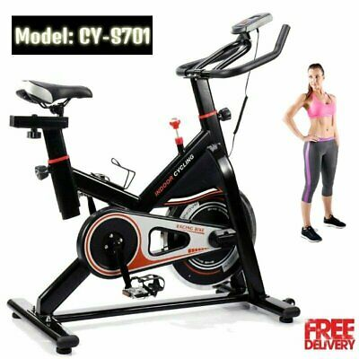 Pro Fitness Stationary Exercise Bike Cardio Indoor Cycling Bicycle Trainer TO