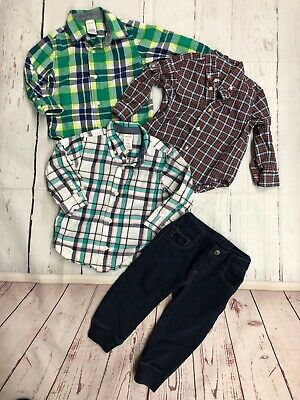 Lot of Gymboree Boys Toddler 18-24 Month Button Down Shirt & Baby Gap Joggers