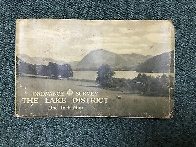 1948 Old Vintage OS Ordnance Survey One-Inch Tourist Map The Lake District