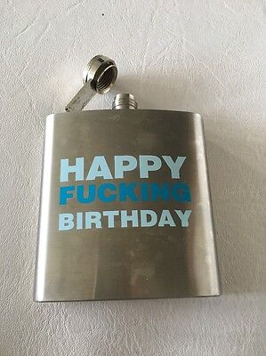 Happy Fucking Birthday Trinkflasche Top Shelf Flasks 6 Oz Von Urban Outfit