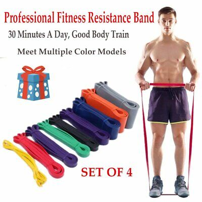 4-set Resistance Bands Exercise Loop Strength Weight Training Fitness Workout FU