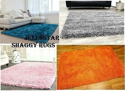 SMALL X LARGE M SIZE THICK PLAIN SOFT SHAGGY RUGS 5cm PILE MODERN FLUFFY CARPET