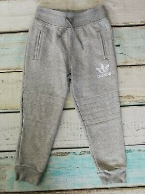 6d9794ad Adidas Originals Boys Quilted Knees Cuffed Hem Joggers Trousers Age 5-6  Years