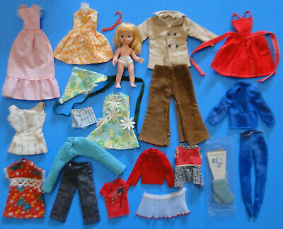 Vintage Barbie/Francie/Skipper 1960-1970s Clothes & Doll LOT -All American Girl+