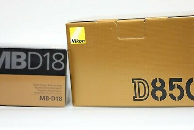 Nikon D850 45.7MP Digital SLR Camera - Black (Body Only) +MB-D18 Battery Grip