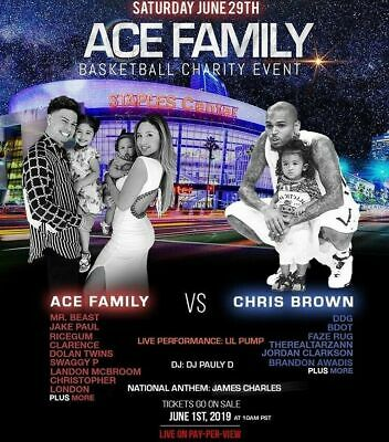 Ace Family Charity Basketball game tickets 3 tickets section 106