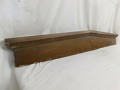 1800's Antique Wooden DOOR PEDIMENT Lintel Header Victorian Style Fir ORNATE