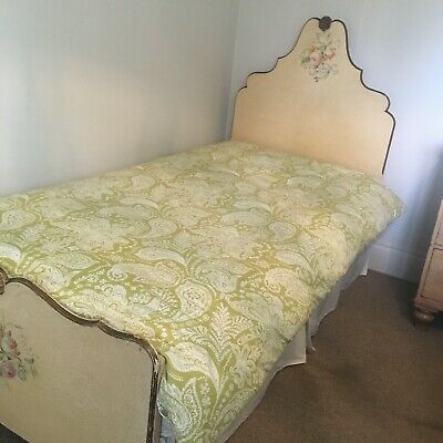 Pair of pretty antique single beds