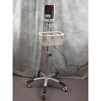 MindRay VS 800 Vital Signs Monitor on Trolley, SP02, NIBP, Pulse Rate, Medical