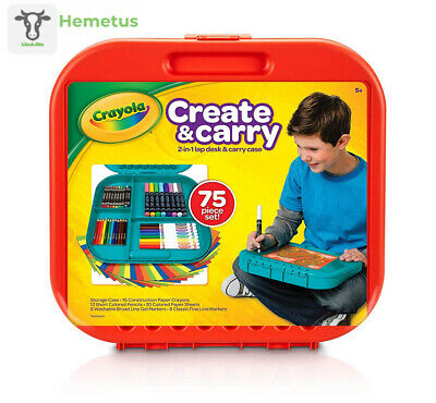 Crayola Create 'N Carry 75Piece Art Kit Gift for Kids 5 & Tools