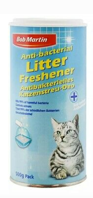 2 x BOB MARTIN Superior Anti Bacterial 500gm Litter Freshener for Cats Pack Of 2