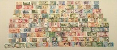 100 Different Types World Currency, All New, UNC, From 49 Different Countries