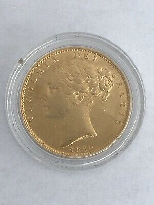 1852 Victoria Young Head Shield Back Full Gold Sovereign
