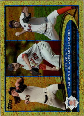 2012 Topps Gold Sparkle #92 Tim Lincecum/Chris Carpenter/Roy Oswalt LDR