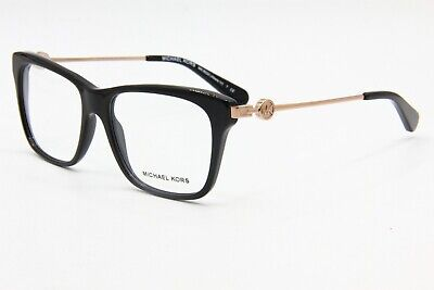 4cf9131dbe19 New Michael Kors Mk 8022 3005 Black Authentic Eyeglasses Mk8022 Frame 52-16
