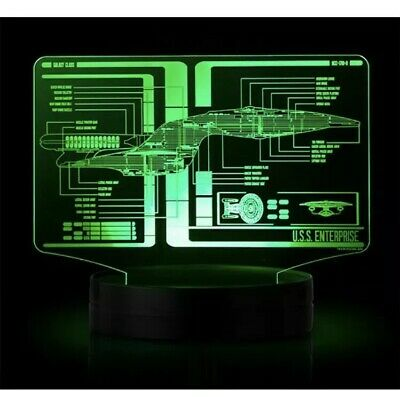Star Trek Display LED TOS and TNG Schematic Illuminated Light RARE Fast Shipping