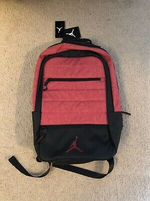 20349f62ee5 Nike Air Jordan Airborne 9A1944-R79 Laptop Backpack Gym Red Heather Black