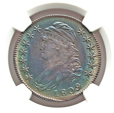 1809 NGC AU Details Capped Bust Silver Half Dollar Type Coin About Uncirculated