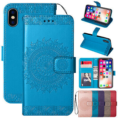 For iPhone 6s Plus 5S Case Magnetic Flip Leather Card Slot Wallet Stand Cover