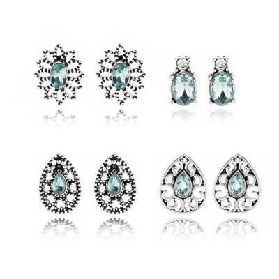 4 Pairs Crystal Bohemian Alloy Earrings for Women Jewelry Stud Earrings SH001