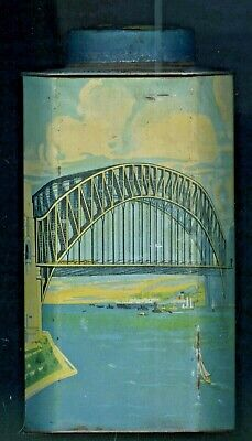 C.1932 Scarce Australian Bushell's Tea Commemorative Tin Sydney Harbour Bridge