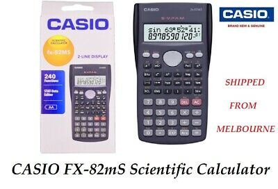 CASIO SCIENTIFIC CALCULATOR FX82 FX-82MS FX-82 MS FX 82 BLACK NEW genuine