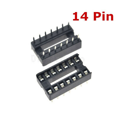 20PCS 14pin DIP IC Socket Adaptor Solder Type Socket Pitch Dual Wipe Contact NEW