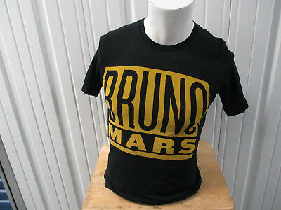 Vintage Bruno Mars 24 Kara 2017 Us / World Tour Medium Black Shirt Preowned
