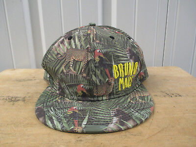 Bruno Mars The Moonshine Jungle Tour 2013 Camo Snapback Hat Cap Preowned