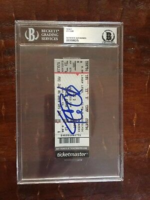 Nwa Ice Cube Hand Signed Big3 Basketball Ticket Bas Beckett Certified Slabbed