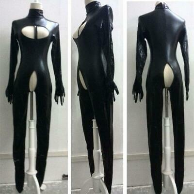 Sexy Bodysuit Crotchless Wet Look Catsuit Bondage Fetish Playsuit Zentai SH113