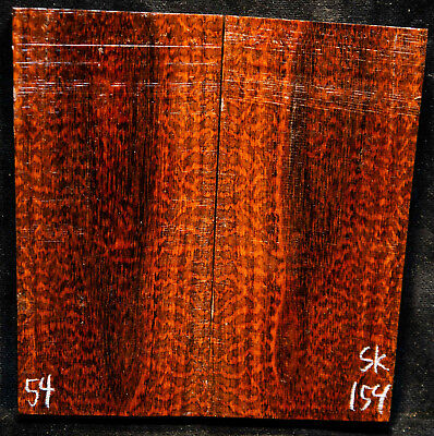 "Snakewood #154 Knife Scales 5.5""x 1.6-2.8""x 5/16"" note cracks"