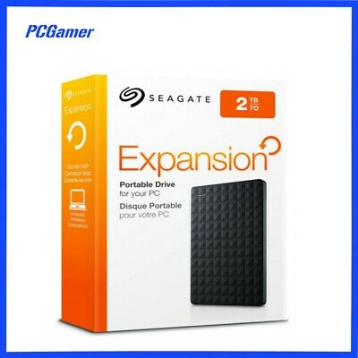 Seagate External 2TB USB Hard Drive (HDD) - Expansion Portable (Black)