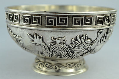 Chinese Rare Collectibles Old Handwork Tibet - Silver bowl     Z620