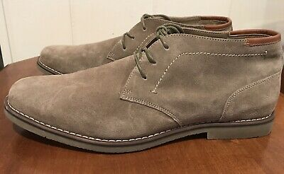 Sonoma Byron Suede Men's Chukka Shoes Size 12 Wide New With Box Ships Free