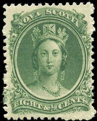 Mint Canada Nova Scotia 1860-1863 8-1/2c Scott #11 Queen Victoria Stamp Hinged
