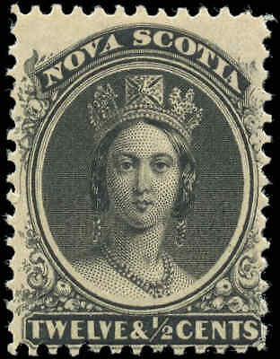 Mint Canada Nova Scotia 1860-1863 12-1/2c Scott #13 Queen Victoria Stamp Hinged