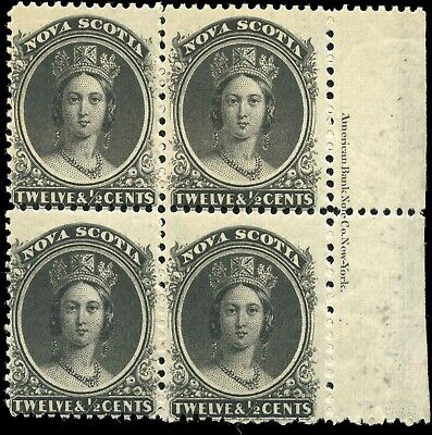 Mint Canada Nova Scotia 1860-1863 12-1/2c Scott #13 Queen Victoria Stamps Hinged