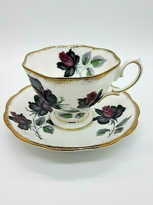 Vintage Royal Albert 'Masquerade' Rose Cup And Saucer Duo