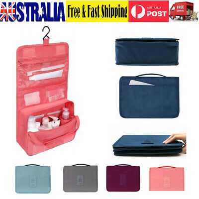 AU Travel Makeup Cosmetic Bag Toiletry Wash Case Organizer Storage Hanging Pouch