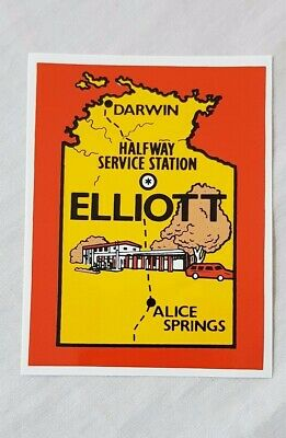 Early Halfway Service Station Northern Territory Souvenir Sticker / Decal