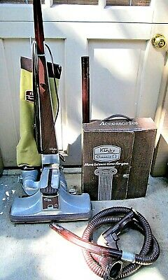 Vintage Kirby Classic Omega 1-CB Upright Vacuum with Attachments