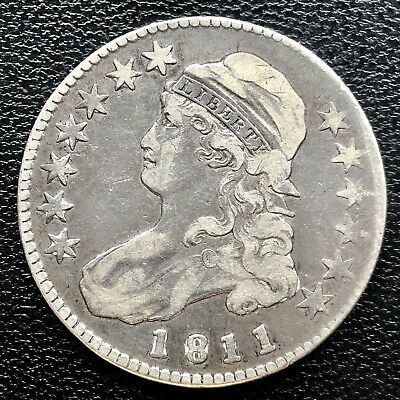 1811 Capped Bust Half Dollar 50c High Grade XF #18234